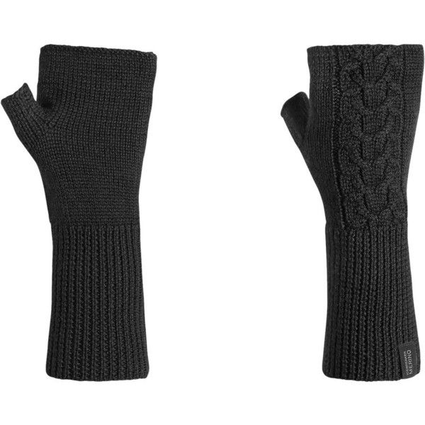 Icebreaker Boreal Hand Warmers ($35) ❤ liked on Polyvore featuring accessories, gloves, black, ski gloves and black gloves
