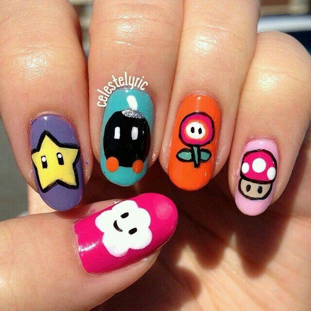 Pin by Priscila Ortega on Uñas | Pinterest | Girl gamer, Crazy nail ...