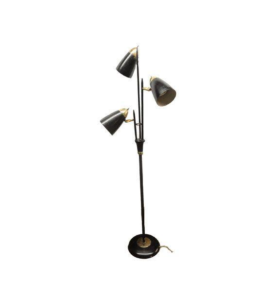 Vintage Bullet Floor Lamp   1950u0027s Mid Century Modern Lighting, Triennale Floor  Lamp, Gerald