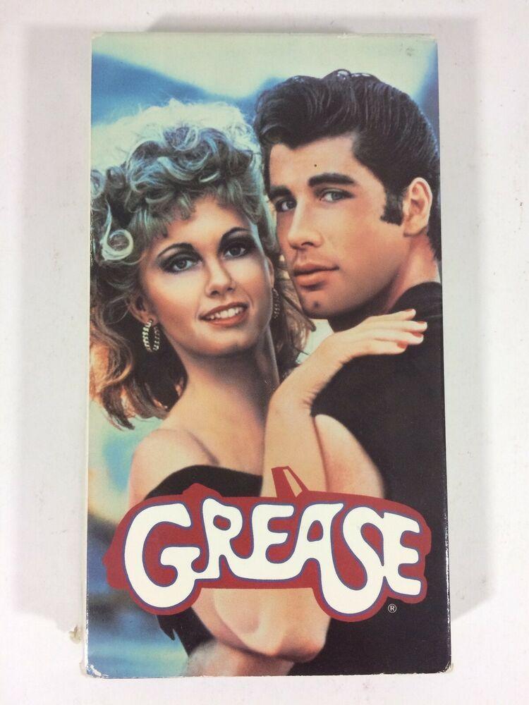 Grease vhs 1990 john travolta olivia newtonjohn