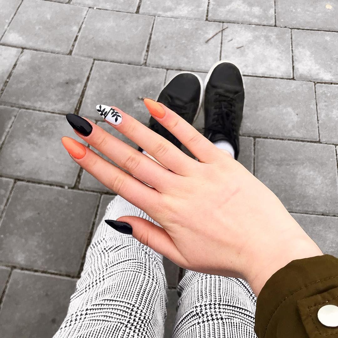 Orangenails Blacknails Whitenails Nails Gelnails