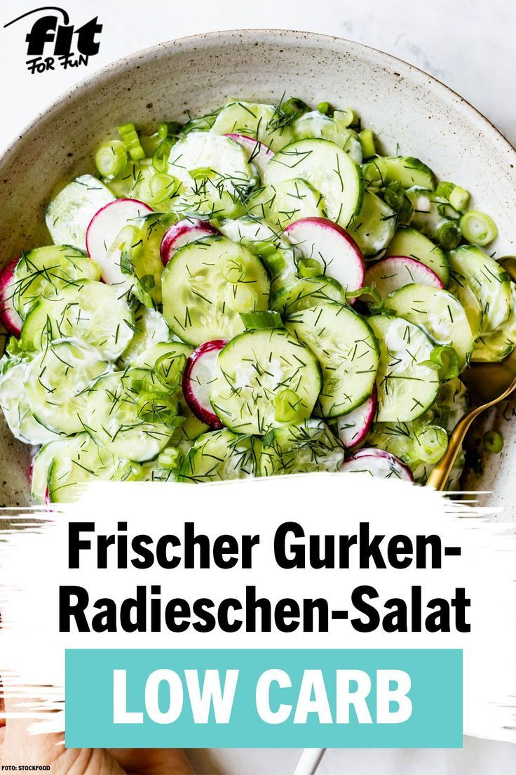 Photo of Fresh cucumber and radish salad recipe – FIT FOR FUN