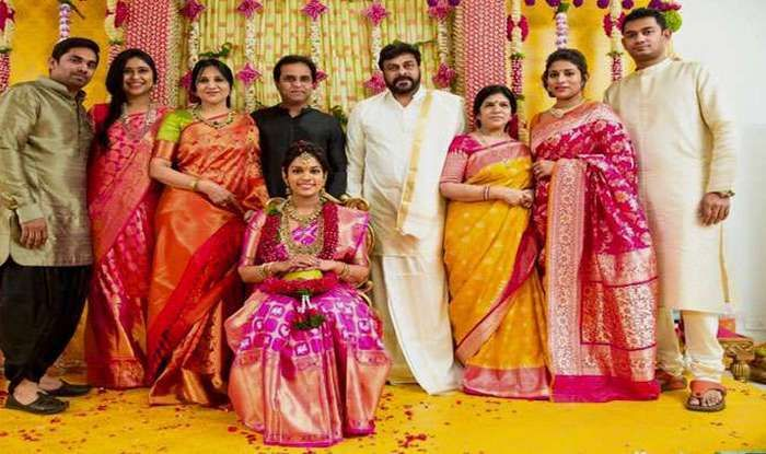 Megastar Chiranjeevi Daughter Srija Wedding Indian Bridal Fashion Groom Wedding Dress Indian Bridal Sarees