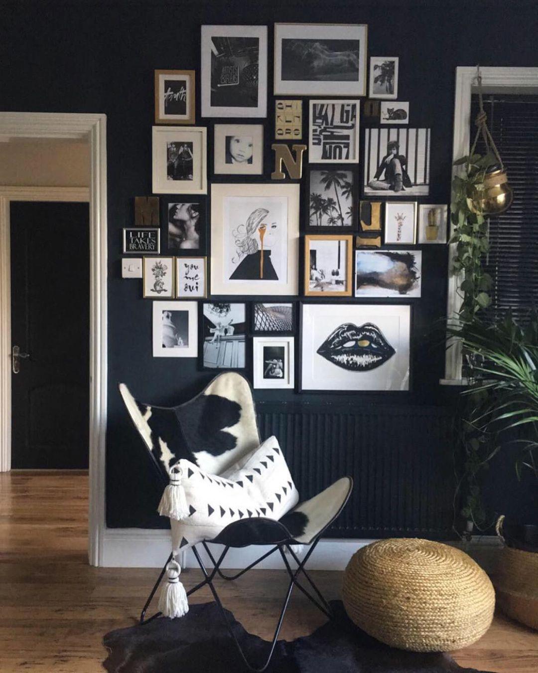 28 Idees Pour Peindre Un Mur Noir Chez Soi Deco Mur Salon Deco