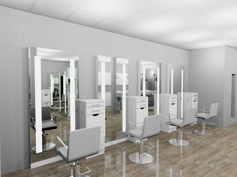 Vicki Popp Salon - Main Styling Area 3D Rendering By Salon