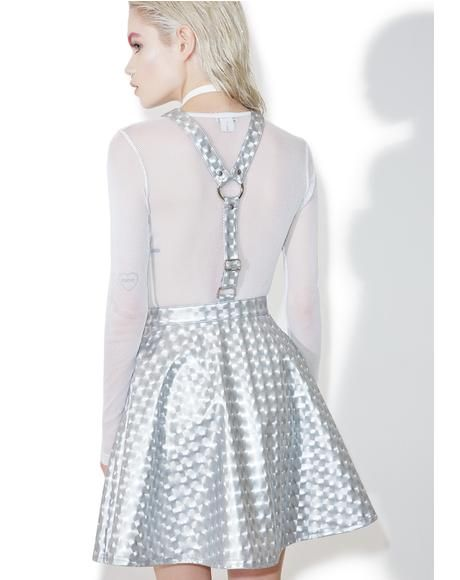 534f841027 Current Mood Hyperion Hologram Overall Dress is comin  at ya at the speed  of light