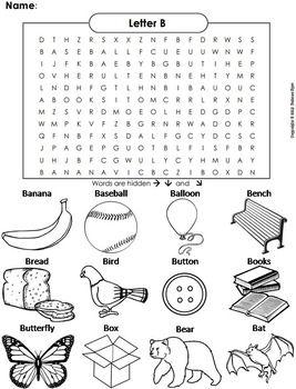 Phonics Worksheet Beginning Letter Sounds Letter Of The Week B Word Search Blend Words Blends Worksheets L Blends