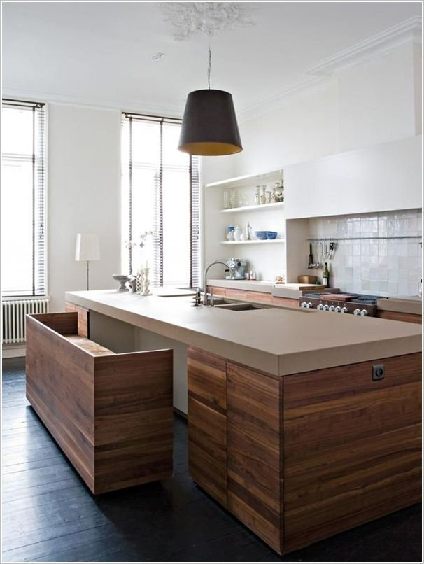 that bench! that island! | &interiors - kitchens in 2018 | pinterest