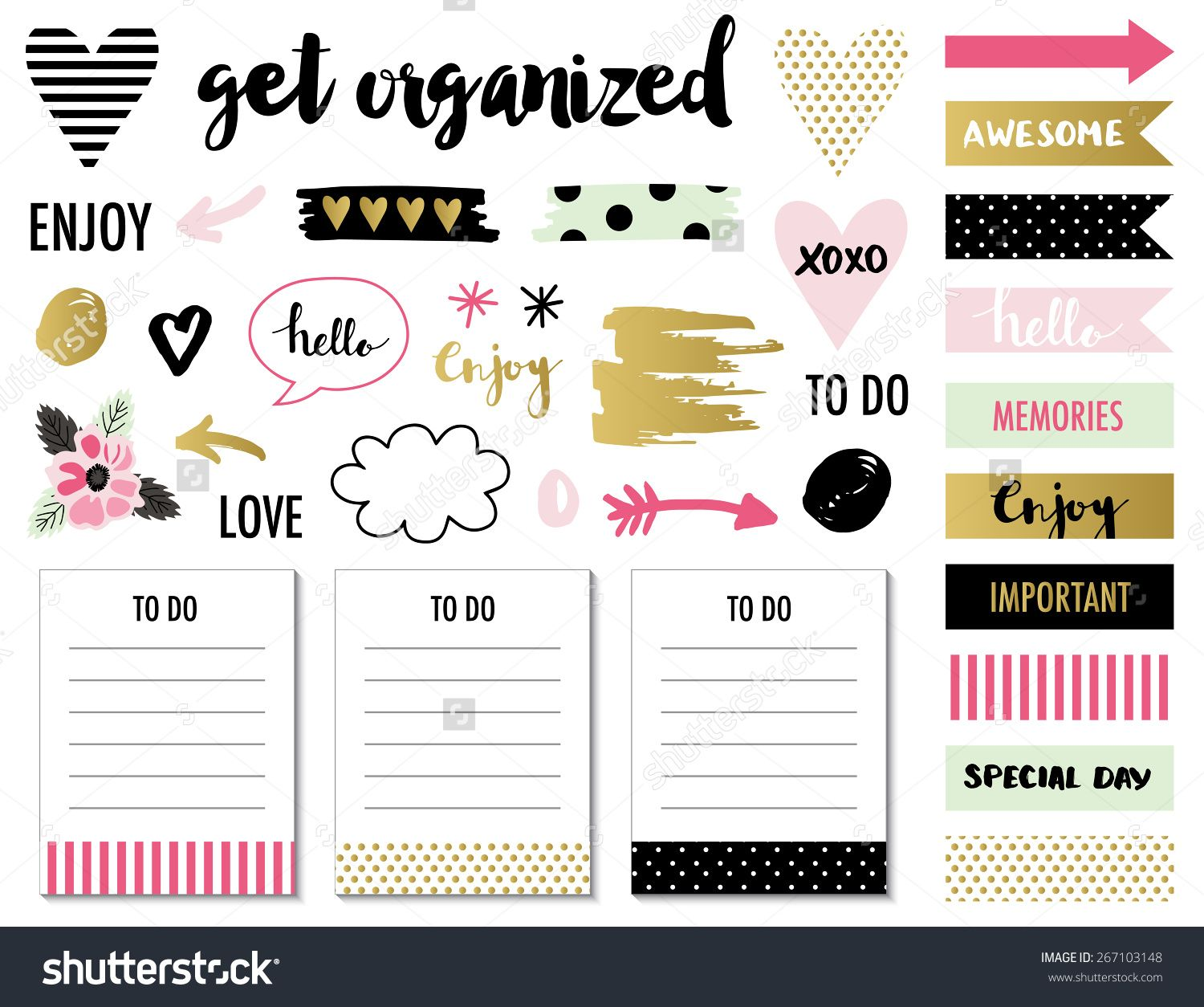Signs and symbols for organized you planner. Template for ... for Planner Stickers Template  15lptgx