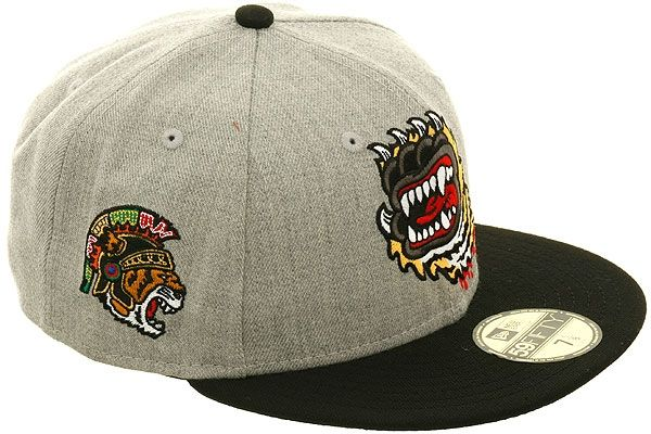 Hat Club Exclusive Tiger Scream Fitted Hat By New Era Heather Gray Black Hat Club Fitted Hats New Era Cap Hats