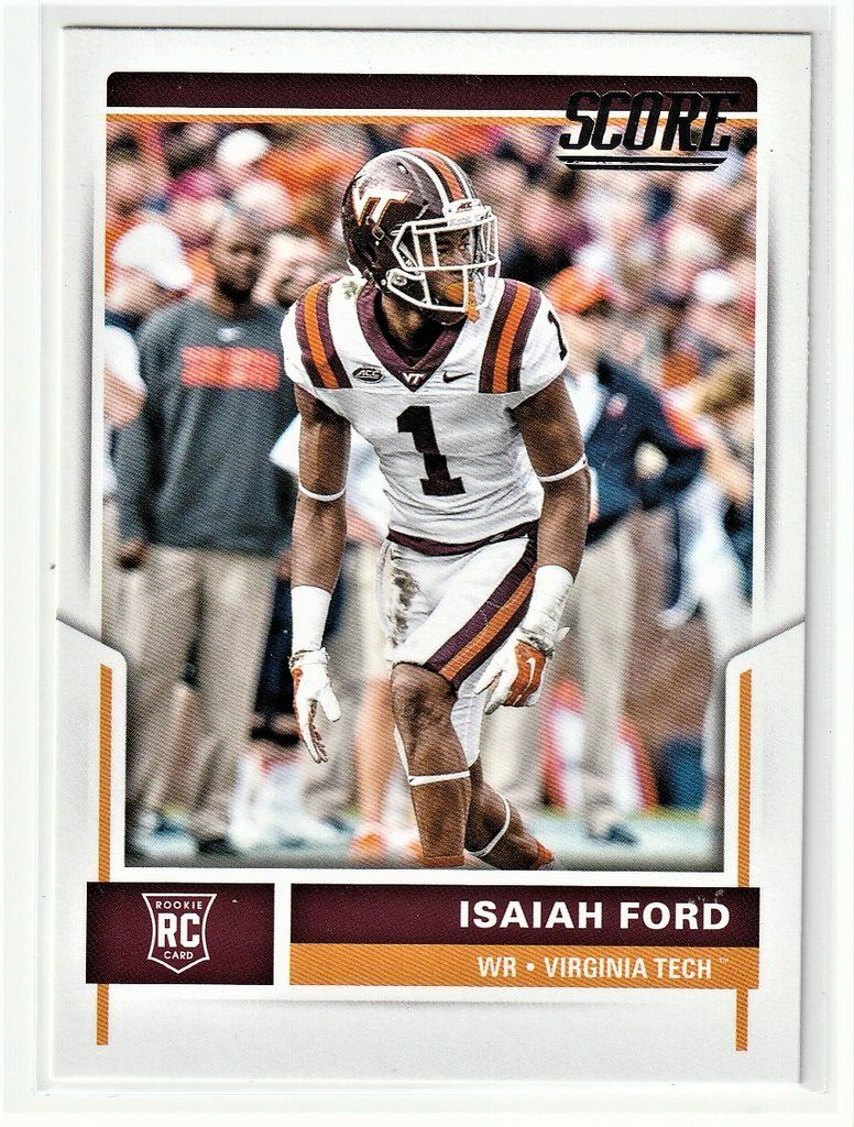 Football Sports Cards Isaiah Ford Rookie Card Sports