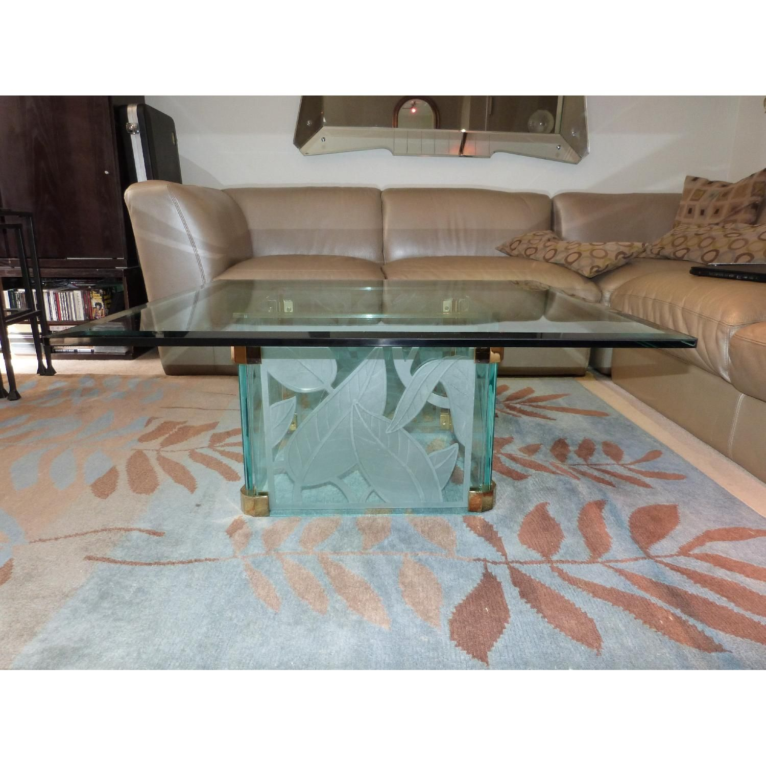 Italian Made Etched Glass Coffee Table 0 Apartment ideas