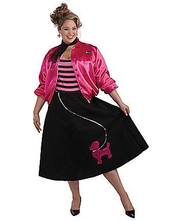 c21ea351377d 50 s Poodle Skirt set Plus Size Costume