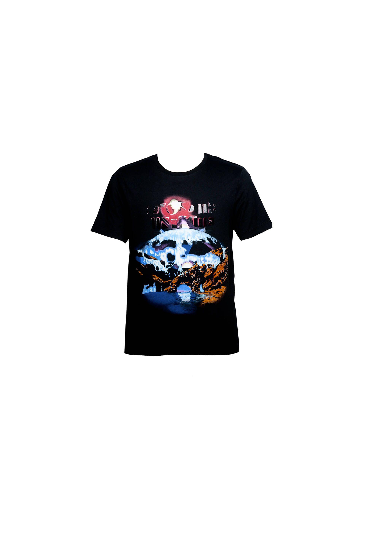 Nera Balenciaga T-shirt A Maniche Corte Wave - Uomo's Egyptofunk Collection - Balenciaga