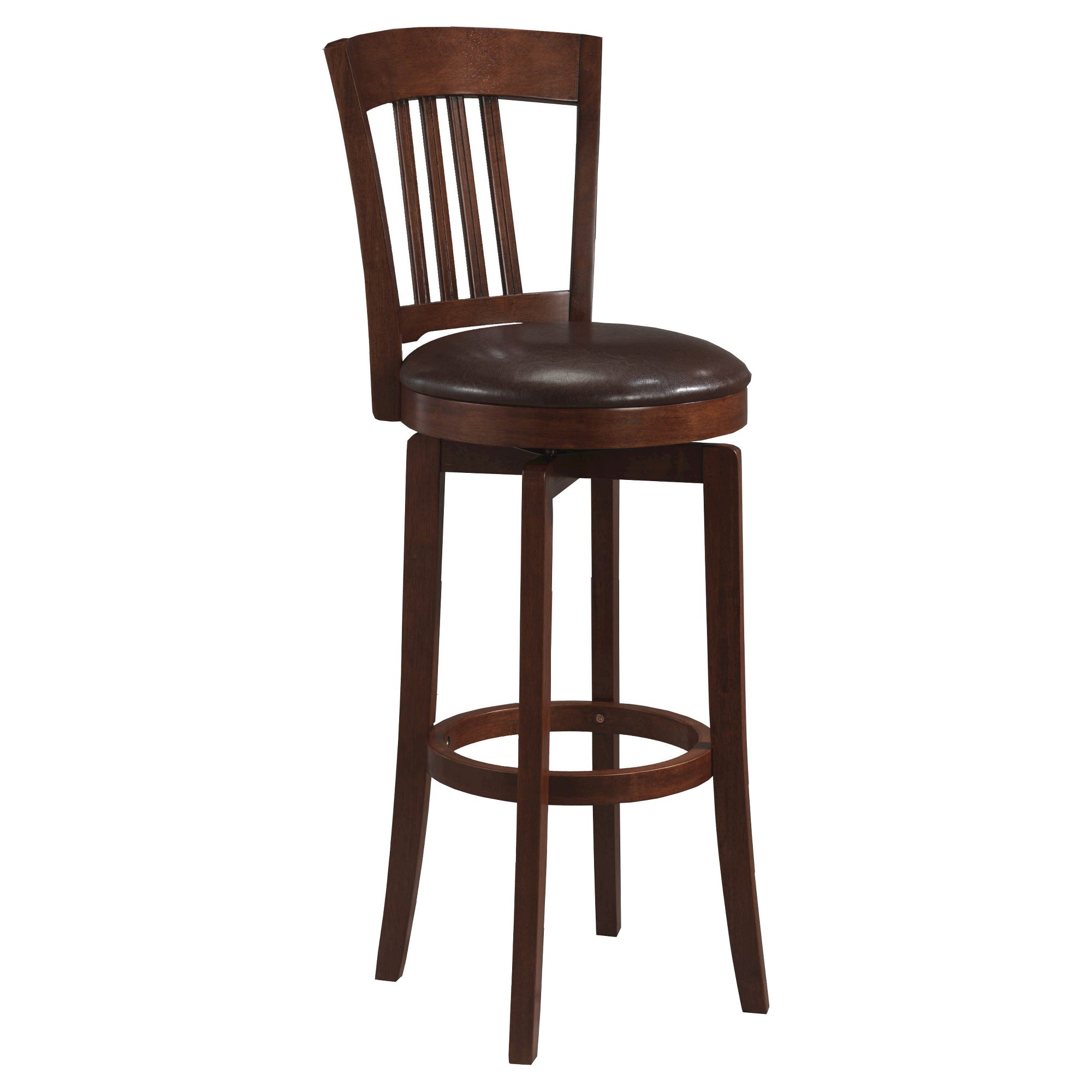 Canton Swivel 25 Counter Stool Woodbrown Hillsdale Furniture