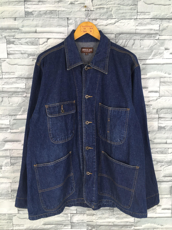 Denim Jeans Jacket Labour Medium Vintage Jeans 90 S Casual Style Workers Denim Blue Men Jeans Jacket Blue Butto Denim Jean Jacket Vintage Jeans Jean Jacket Men [ 3000 x 2250 Pixel ]