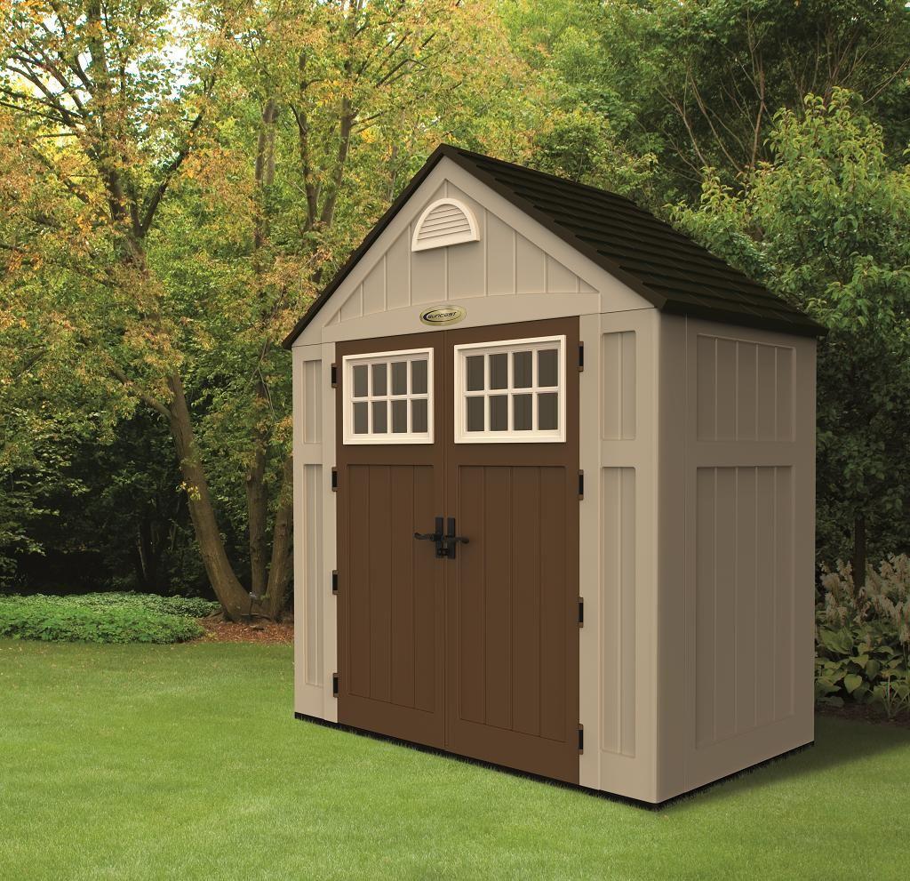 Caseta de resina suncast bms 7300 casetas de jard n for Cobertizos para jardin