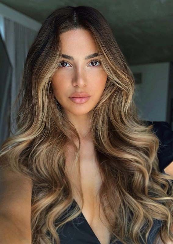Pretty Long Hairstyles with Balayage Highlights for Women 2020 | Absurd Styles