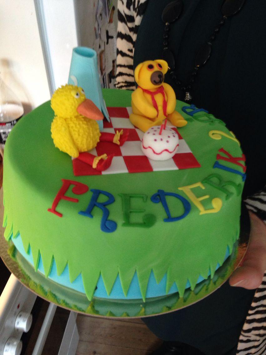 Fødselsdagskage - Bamse og Kylling