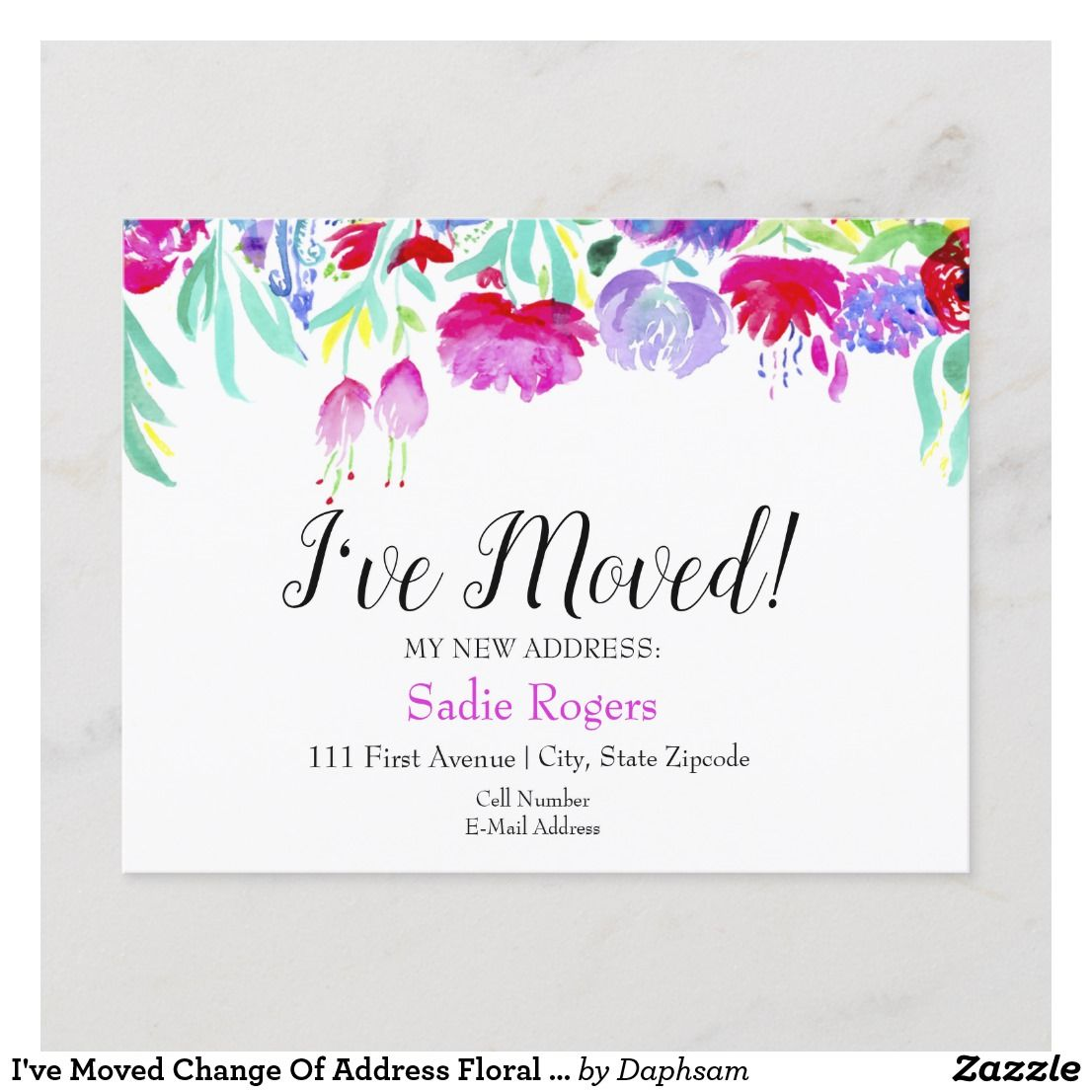 wood address change cards just moved announcement new address card faux wood we have moved card Floral we/'ve moved announcement card