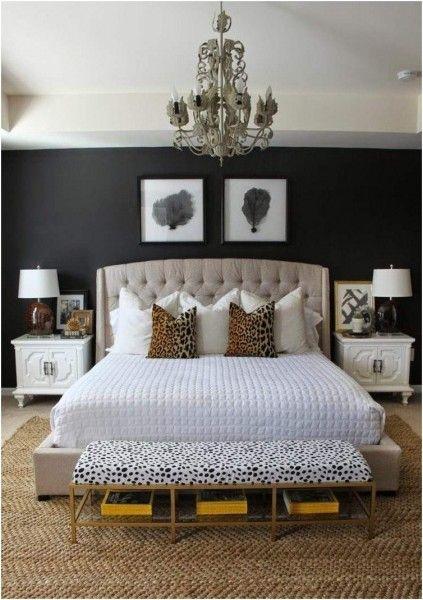 Black Wall Bedroom Deecor Ideas Zimmer Hauptschlafzimmer Luxusschlafzimmer