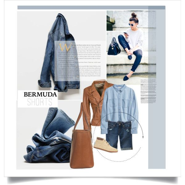 """Denim Bermuda Shorts"" by leatherlena on Polyvore"