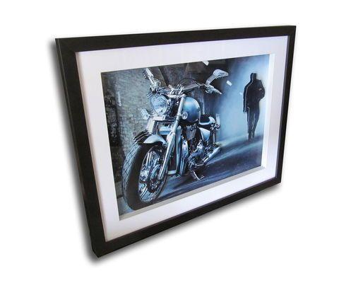 Quadro Decorativo 3d Moto 40x50cm