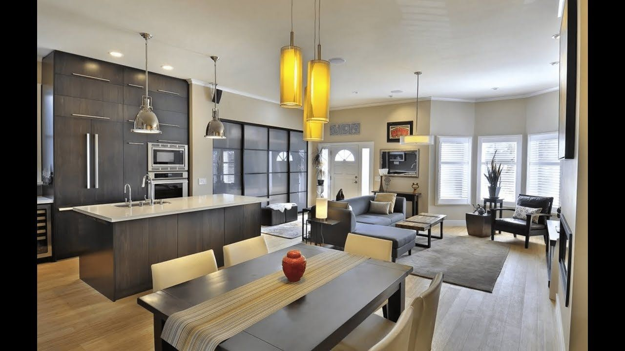 121 modern open concept  kitchen dining living room all