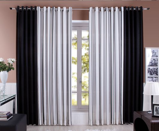 Cortina cortinas pinterest - Cortinas dobles para salon ...