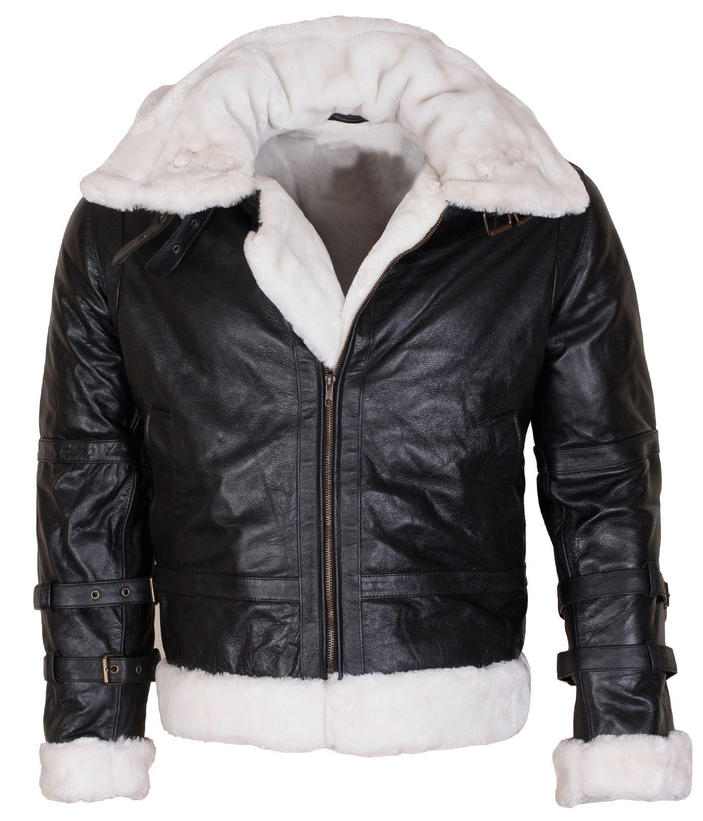Mens B3 Bomber Winters Fashion Faux FurLining Hooded
