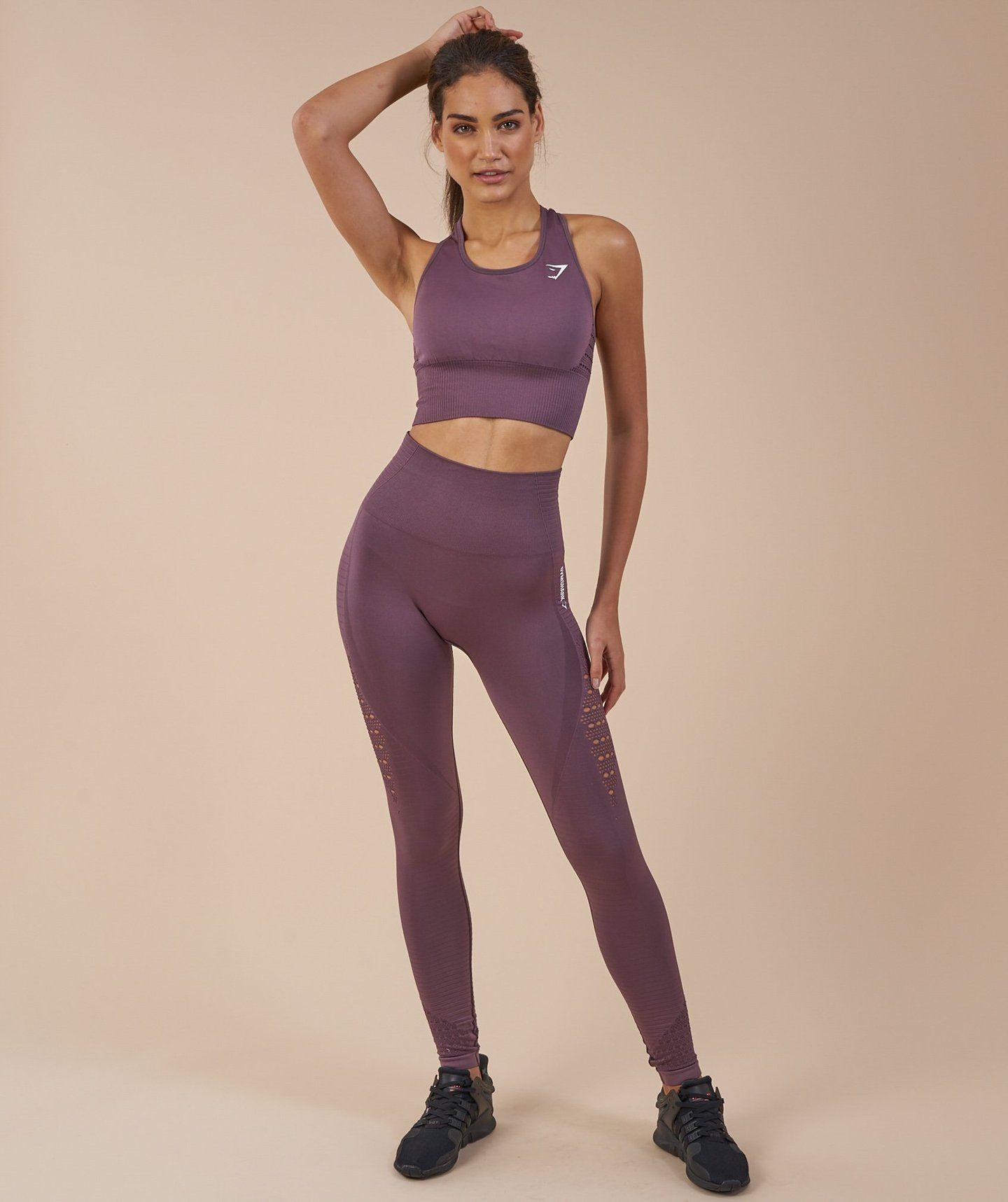 72955fd337cf5 Gymshark Energy Seamless High Waisted Leggings - Purple Wash ...