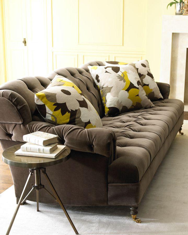 """Haute House Berlin"""" Velvet Sofa & """"Floral Mod"""" Pillow"""