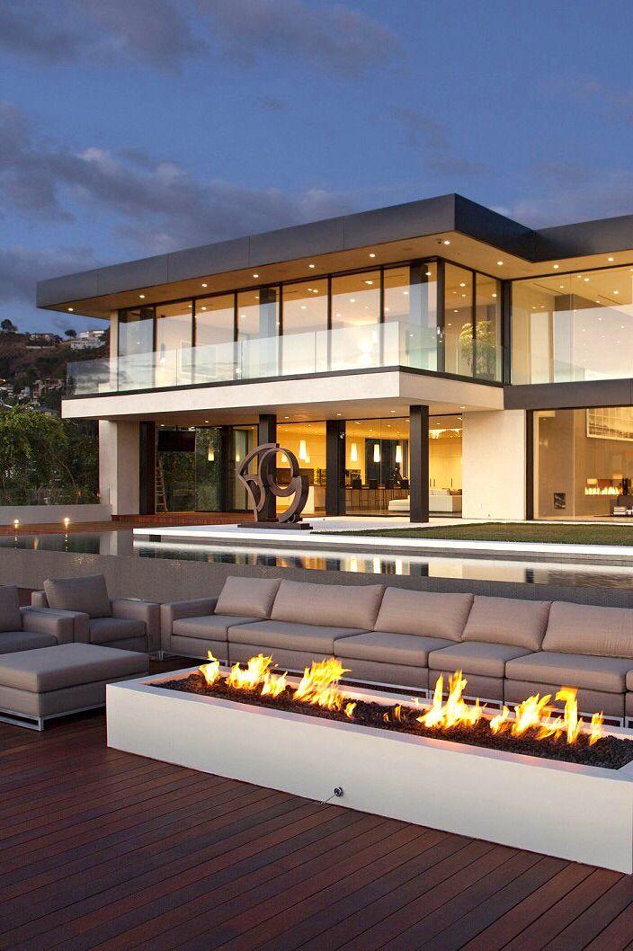 Modern glass railings using frameless U-channels. You can ...