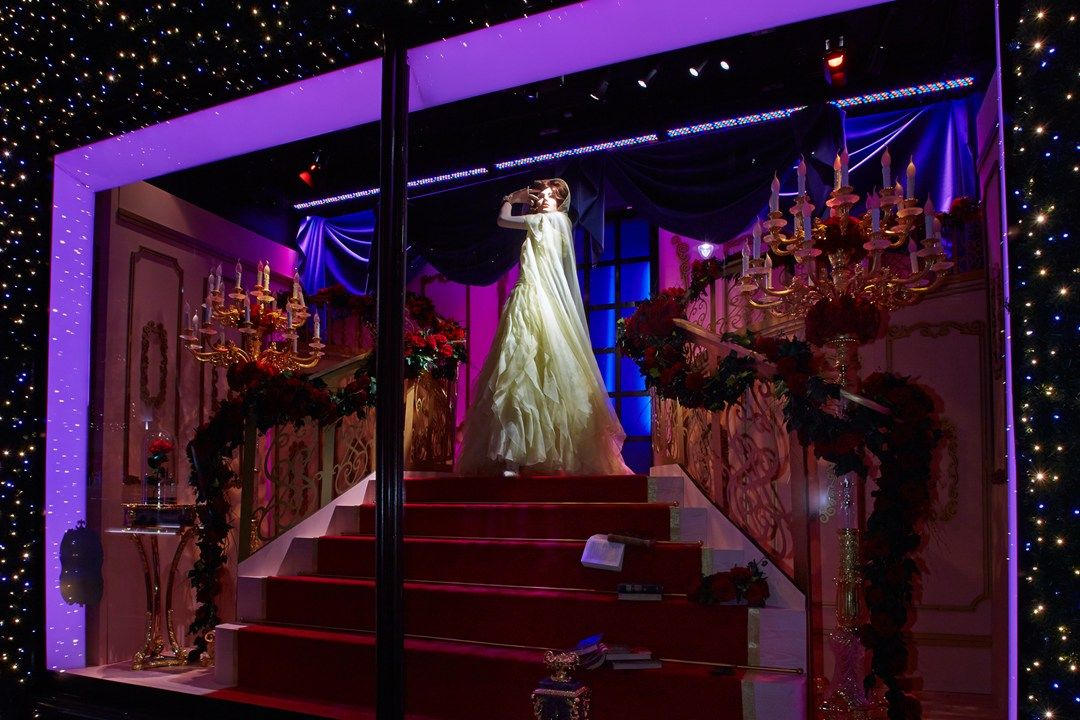 Belle by Valentino Harrods Disney Princess Designer Dresses - Christmas Window Display (Vogue.com UK)