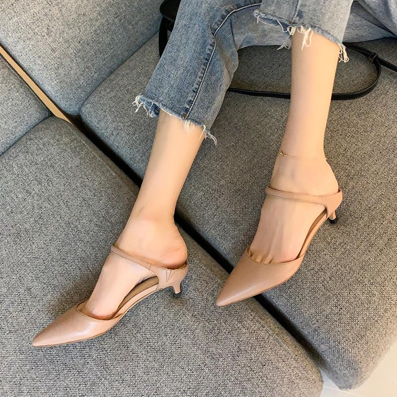Chiko Sabrina Pointed Toe Kitten Heels Clogs Mules Kitten Heel Shoes Heels Women Shoes