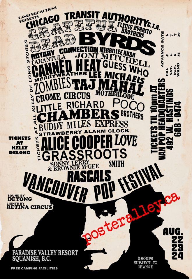 Van Pop Small Concert Posters Vintage Concert Posters Music Poster