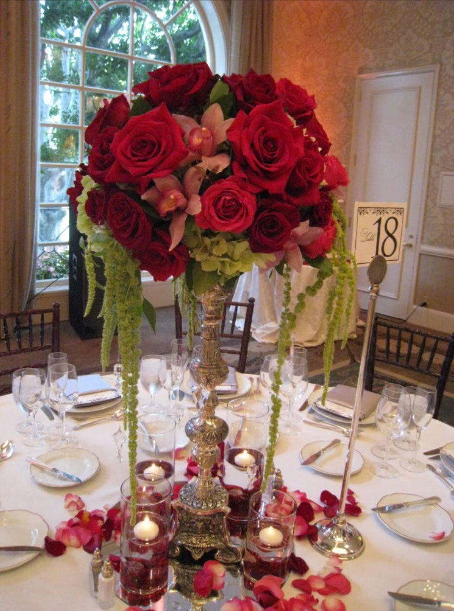 Peachy 37 Elegant Floral Centerpieces For Wedding Wedding Table Interior Design Ideas Tzicisoteloinfo