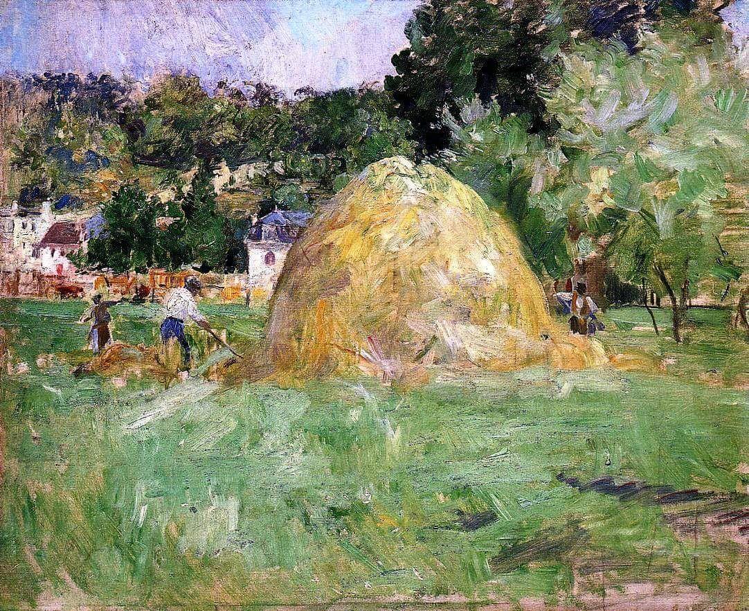 Berthe Morisot - Haymakers at Bougival, 1883. Oil on canvas, 50 x 61 cm. Musée Marmottan Monet, Paris, France