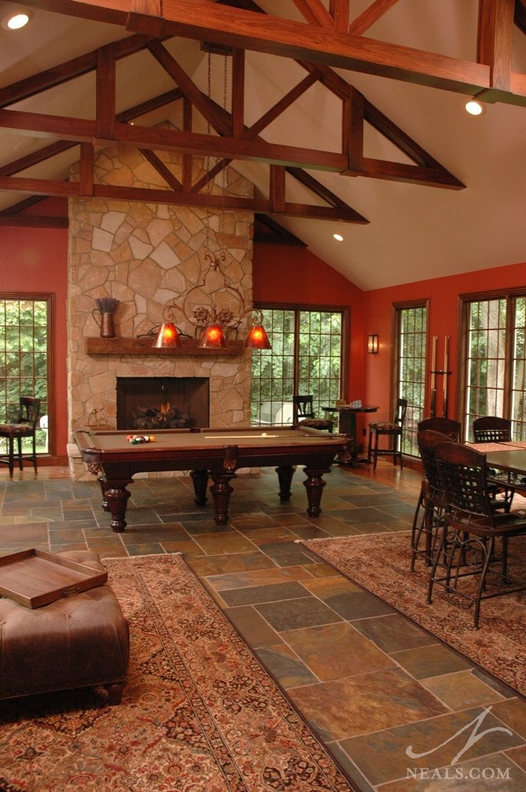 Great Room Additions Home Design Ideas Pictures Remodel And Decor: Project Spotlight: A Rustic Lodge Room Addition In 2020