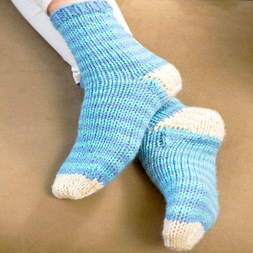 12 Sock Knitting Patterns for Beginners Using Circular ...