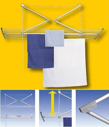 Stewi Lift Ceiling Airer at Clothesline Shop