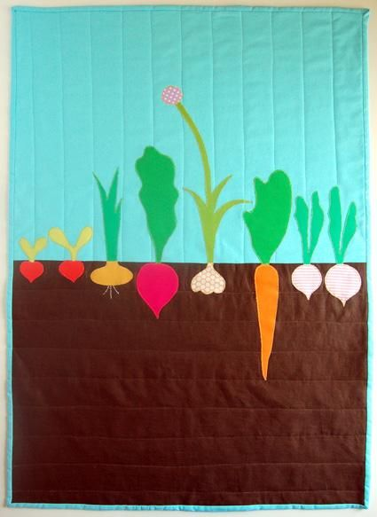 Vegetable patch quilt
