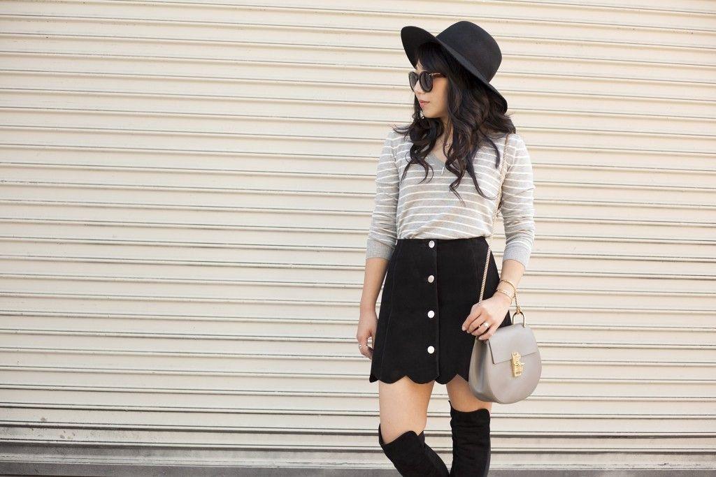 526de142e07 poshclassymom-suede-button-front-skirt-boho-stuart-weitzman-5050-boots-chloe-drew-striped-top-flop-hat-black-and-gray  (2)