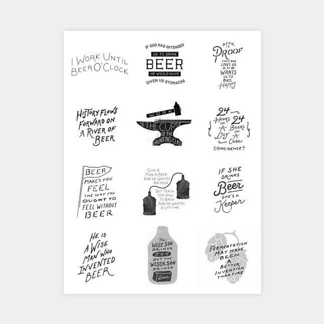 Exclusive Beer Quotes Print