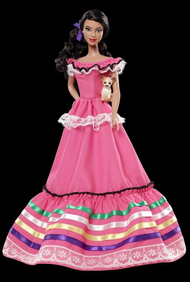 Barbie Mexicana.   Muñecas y muñecos.   Pinterest   Pecas y Muñecas