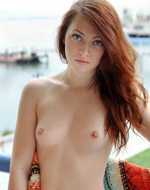 Small breats redhead
