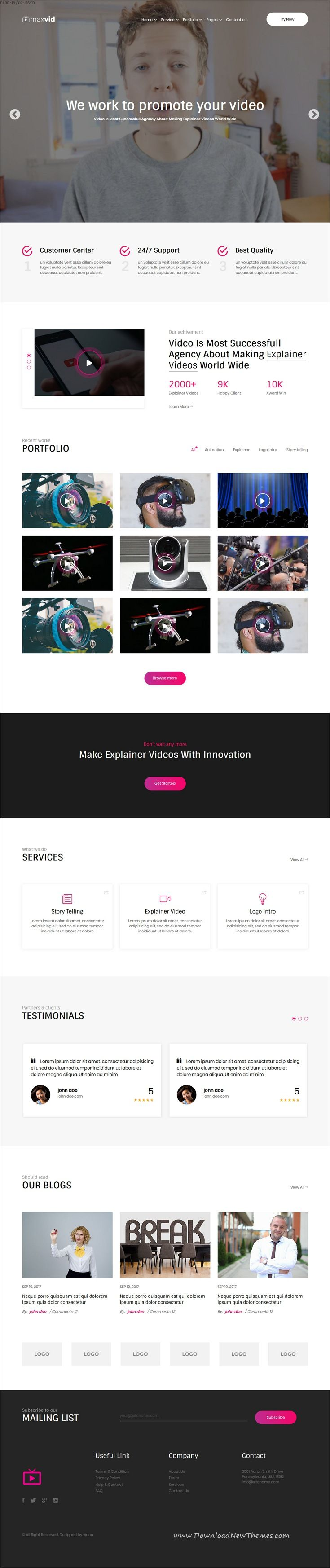 Maxvid Is Clean And Modern Design 4in1 Responsive Html Bootstrap