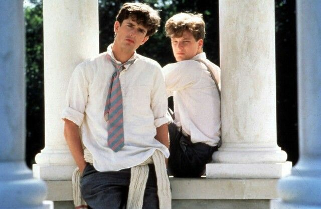 Young Rupert Everett and Colin Firth