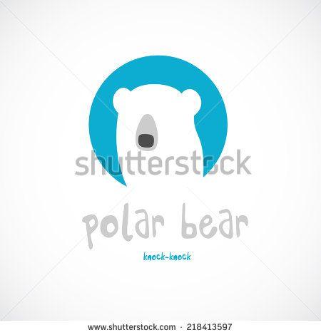 Polar bear head logo template