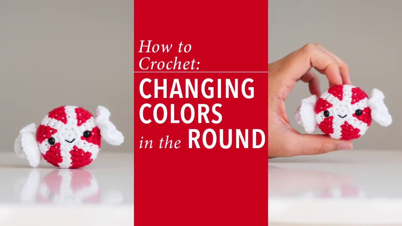 How to change colors while crocheting in the round
